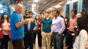 The students get an exclusive tour of Brookhaven's state-of-the-art facilities