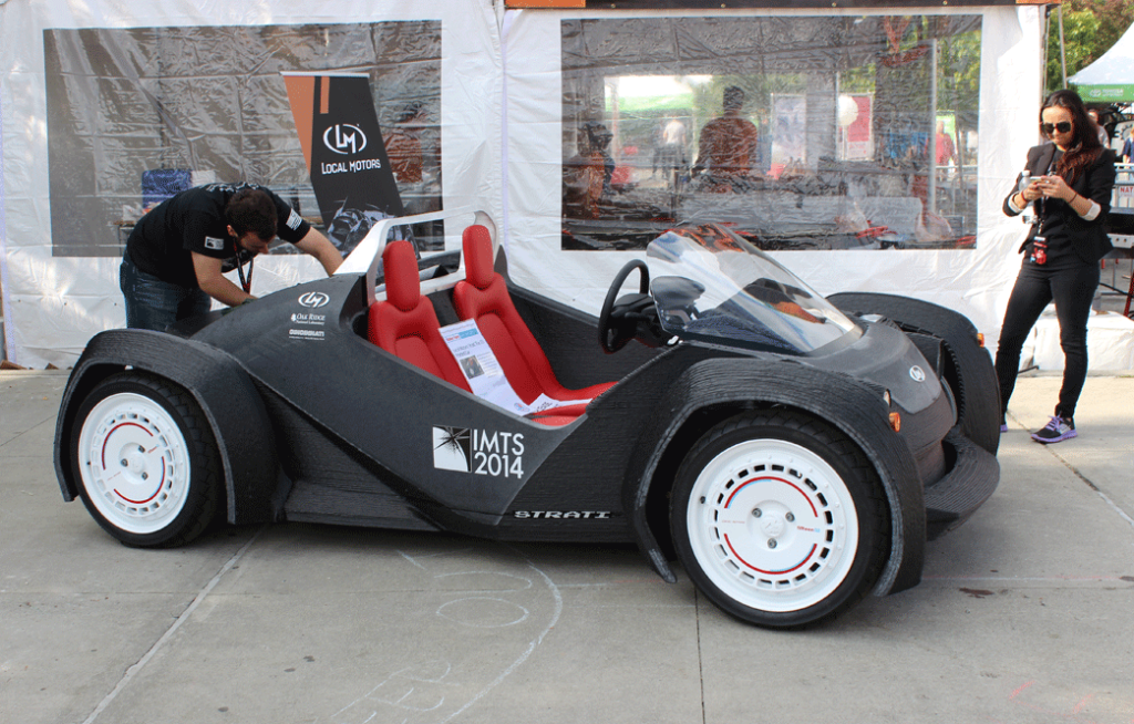 First 3d printed car