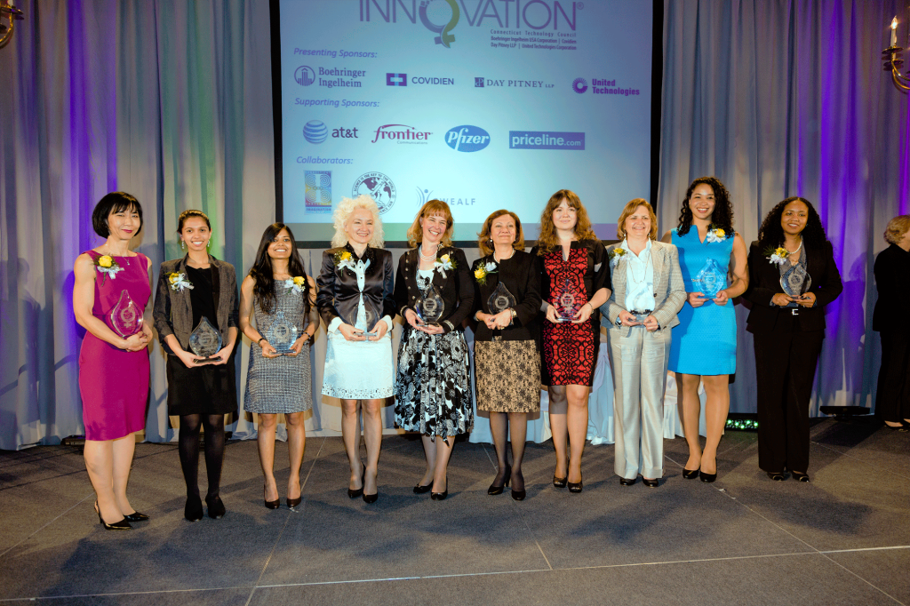 The 2015 Women of Innovation top category winners. (Photo credit CT Technology Council)