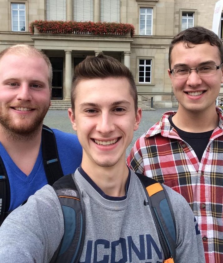 Three Eurotech students begin their semester in Germany. From left to right: Ben Theiken, Andrew Jeffery, and Alex Kinstler.