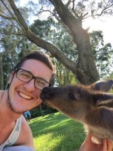 Greg with Josephine the Kangaroo