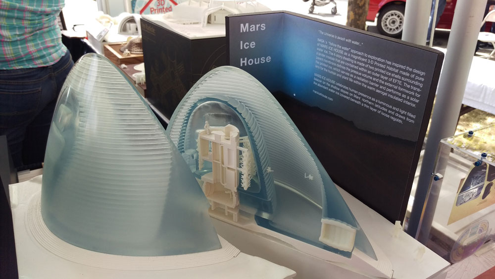 Mars habitat proposal finalists with competition winner Ice House