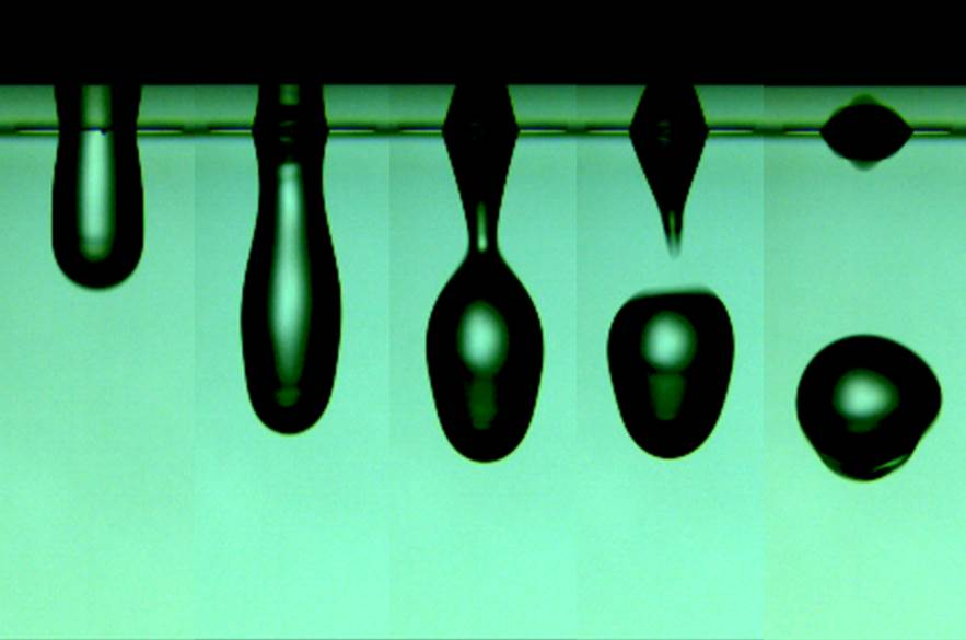 High speed imaging of water droplet formation, courtesy of Yang Guo and Dr. Anson Ma.