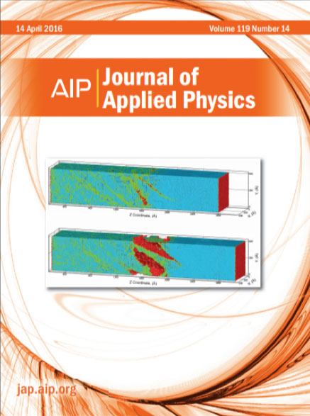 Cover April 2016 of Journal of Applied Physics
