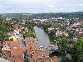 Tübingen, view from the Stiftskirche.