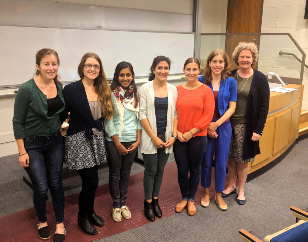 MSE Graduate Students with Professor Janet Callahan (right)
