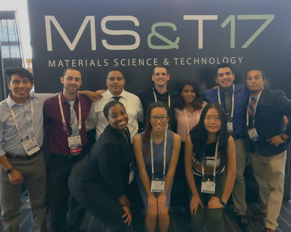 (From left to right) Zane Grady, Zach Putney, Francis Almonte, Adam Wentworth, Lara Huapaya, Jason Santivanez, Steven Gomez, Imani Addo, Amanda Agui, Alice Hu.