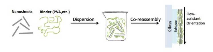 Diagram of the process of applying the nanocoating onto a substrate.