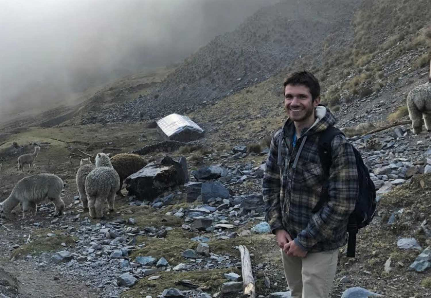 Ryan Cordier in Peru with Engineers Without Borders