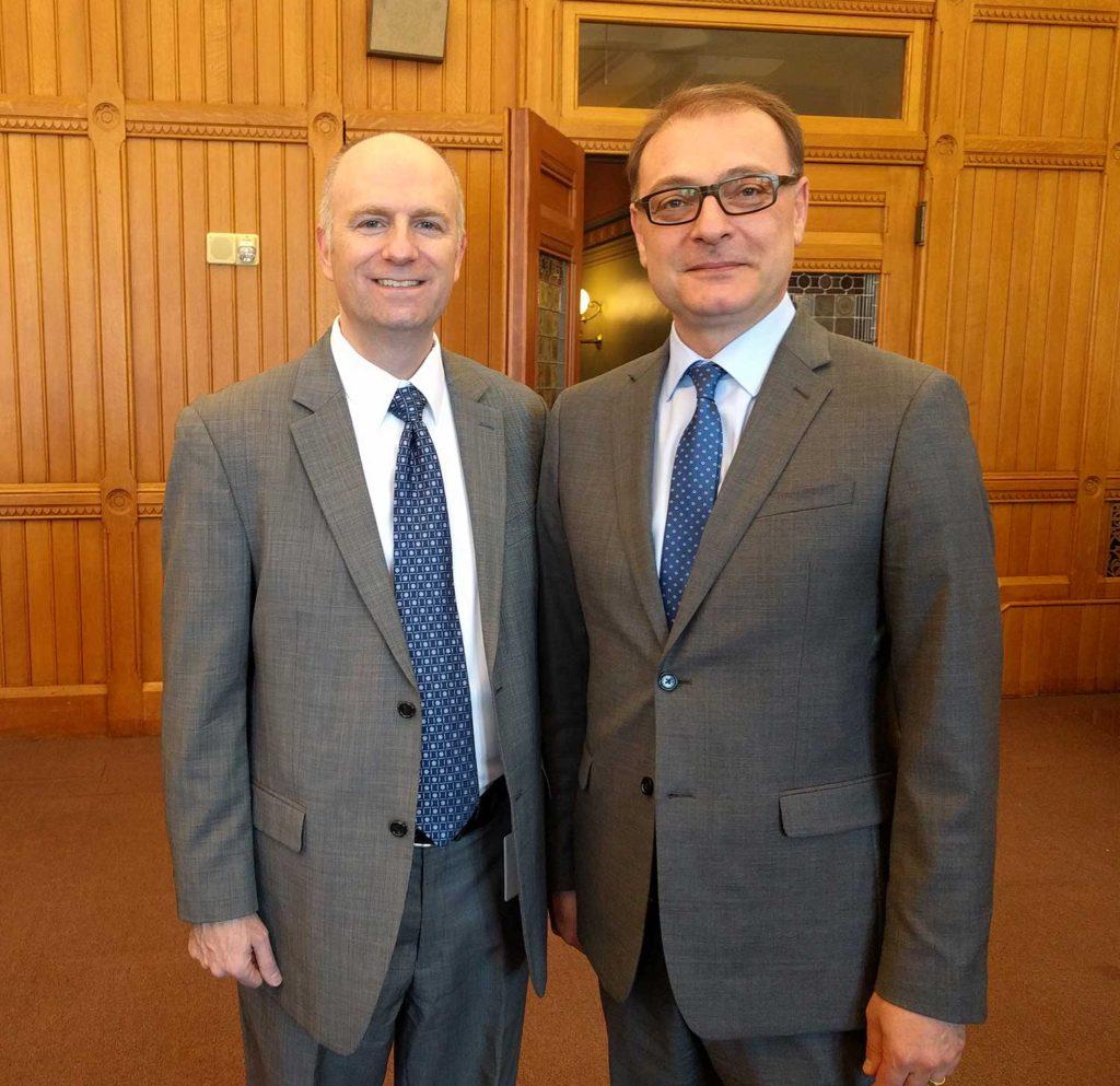 State Representative Gregg Haddad and Professor Pamir Alpay