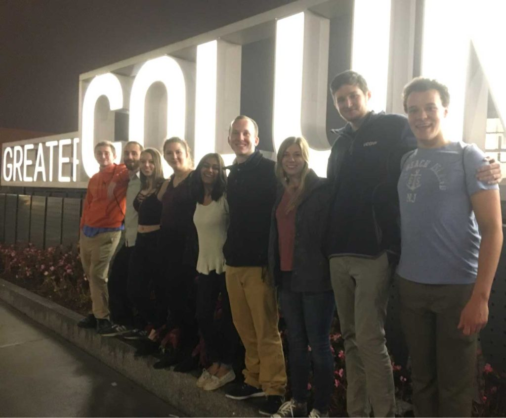 (Left to right:) Joe Tracey, Zach Putney, Grace Quinlan, Iwona Wrobel, Hetal Patel, Alex Perkins, Michelle Such, Justin Hewitt, Jordan Gomes.