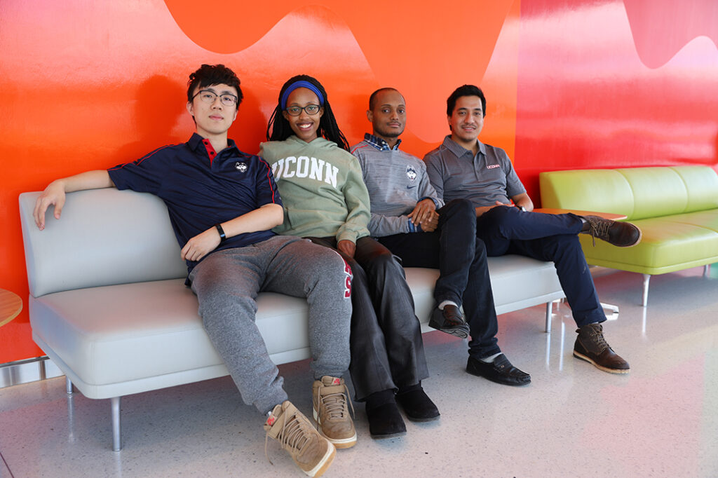 photo of MRS student chapter members Shuyang Xiao, Sharon Uwanyuze, Richard Ortiz Godoy, and Rajat Sainju (left to right).