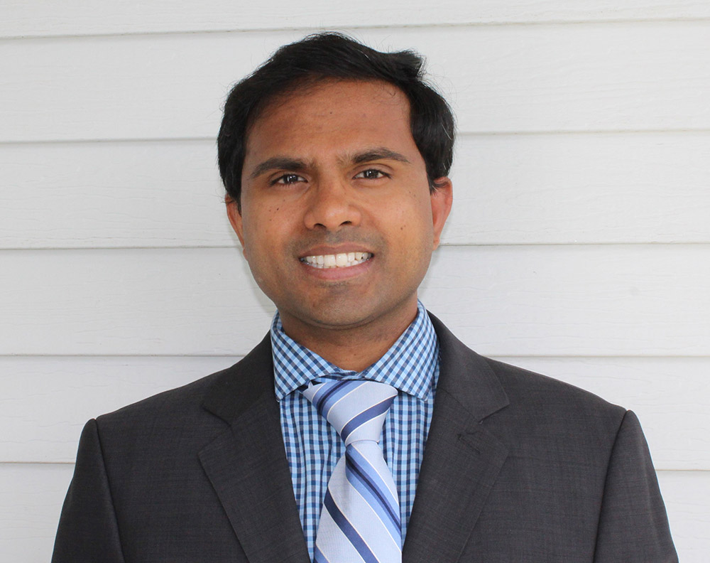 photo of photo of MSE alumnus Dr. Maddala, Lead Rolling Metallurgical Engineer, Arconic Davenport Works